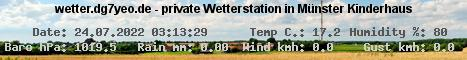 private Wetterstation in MS-Kinderhaus